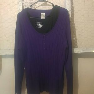 Just my size purple sweater plus tank top size 3x
